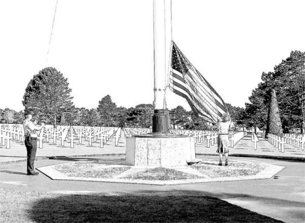 Omaha Beach Wwii American Cemetery Art Print