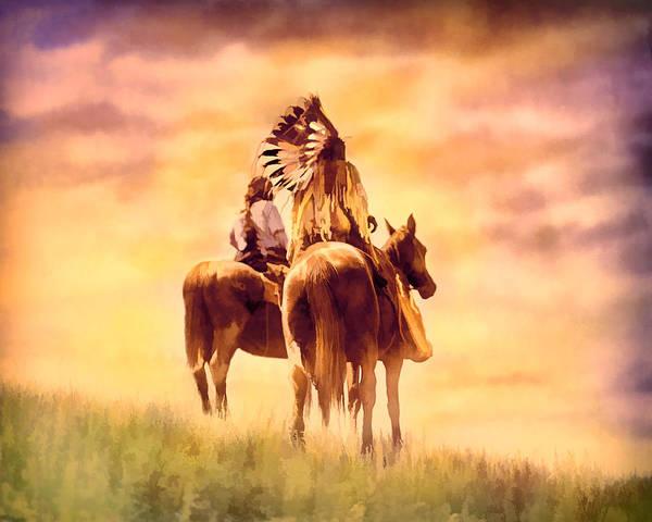 Digital Art - 2 On Horseback by Rick Wicker