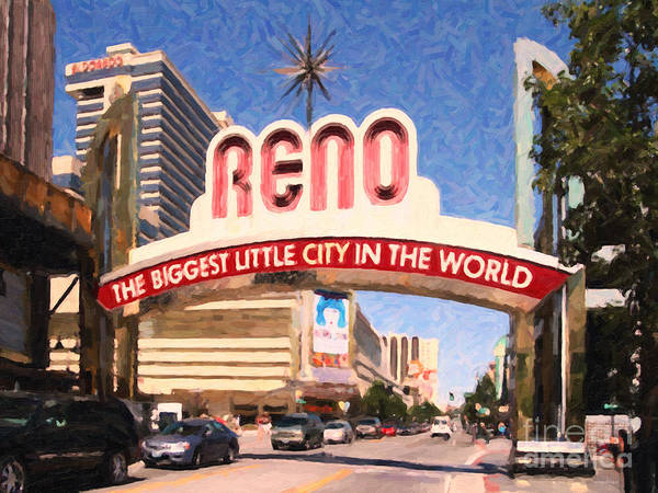 Harrahs Photograph - Reno . The Biggest Little City In The World by Wingsdomain Art and Photography