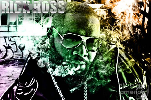 Ross Digital Art - Rick Ross by The DigArtisT