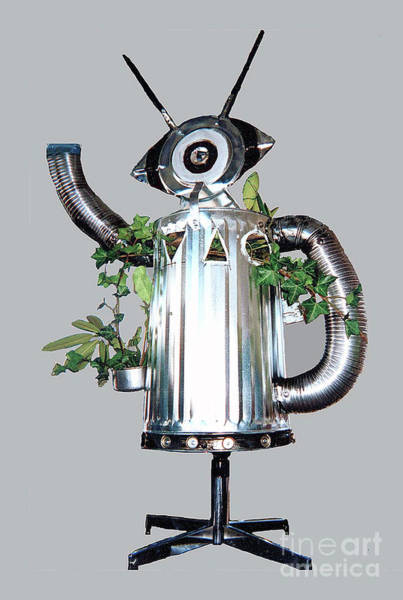 Mixed Media - Robocan by Bill Thomson