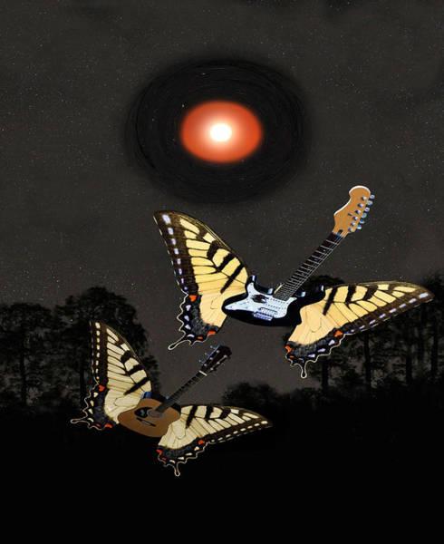 Butterfly On Flower Digital Art - Rock On by Eric Kempson