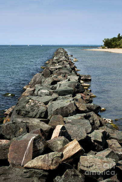 Wall Art - Photograph - Rock Pier On Lake by Blink Images