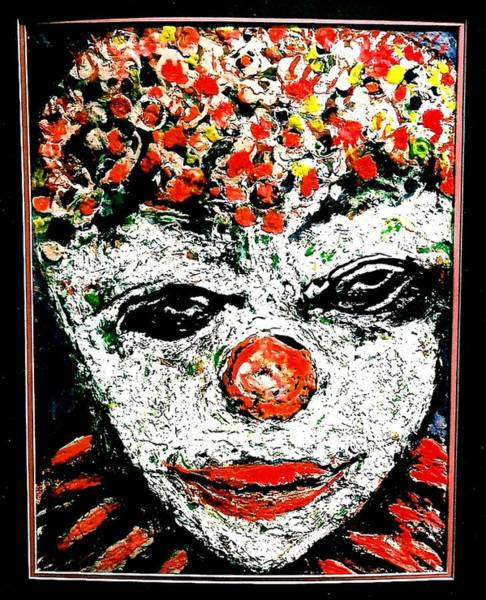 Sax Painting - Rodeo Clown by Darlyne Sax