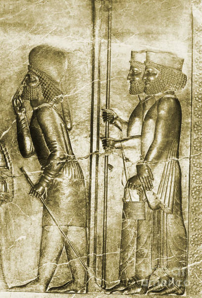 Colorization Photograph - Royal Reception Relief, Persepolis, Iran by Science Source