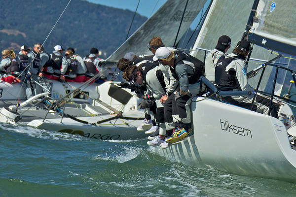 Photograph - Sailboat Racing On San Francisco Bay by Steven Lapkin