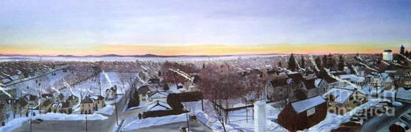 Painting - Sentinels At Dawn by Stella Sherman