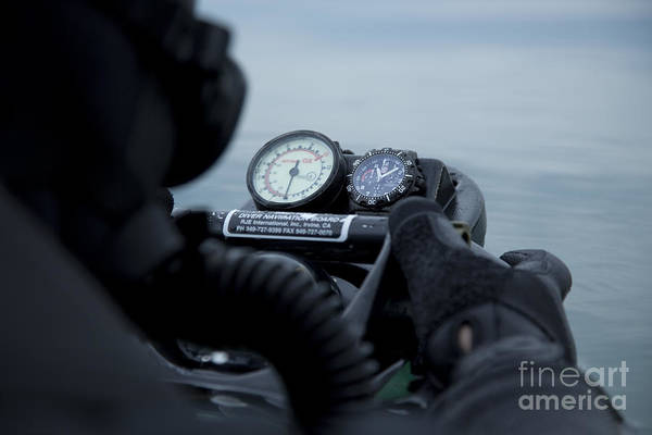 Photograph - Special Operations Forces Combat Diver by Tom Weber