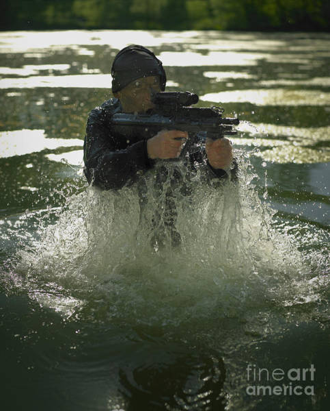 Photograph - Special Operations Forces Soldier by Tom Weber