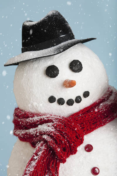 Wall Art - Photograph - Studio Shot Of Snowman by Tetra Images