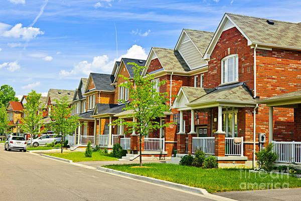 Suburbs Photograph - Suburban Homes by Elena Elisseeva