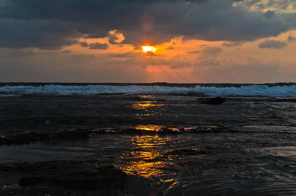 Photograph - Sunset Over Sea by Michael Goyberg