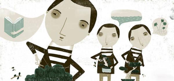 Adult Digital Art - The Bonsai Pruner by Luciano Lozano