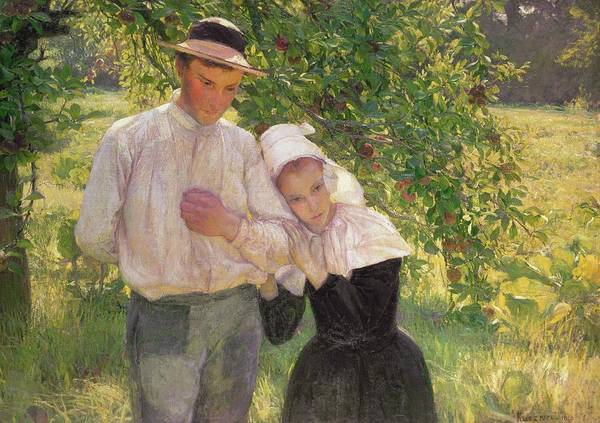 Apple Orchard Painting - The Convalescent by Max Kurzweil