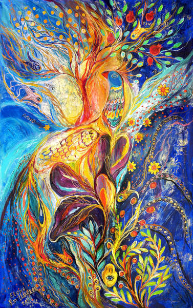 Priestly Blessing Painting - The King Bird by Elena Kotliarker