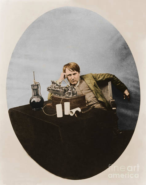 Tele Photograph - Thomas Edison, American Inventor by U.S. Department of the Interior