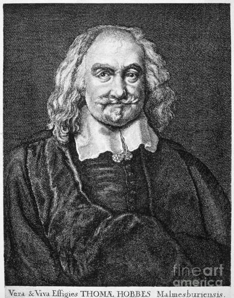 Goatee Photograph - Thomas Hobbes (1588-1679) by Granger