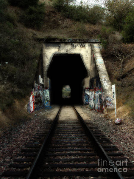 Photograph - Train Tunnel At The Muir Trestle In Martinez California . 7d10220 by Wingsdomain Art and Photography