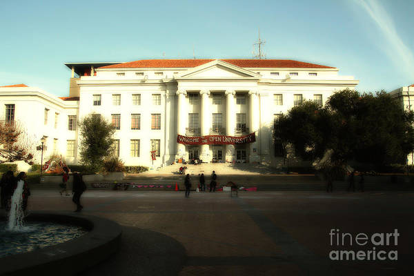 Photograph - Uc Berkeley . Sproul Hall . Sproul Plaza . Occupy Uc Berkeley . 7d9994 by Wingsdomain Art and Photography