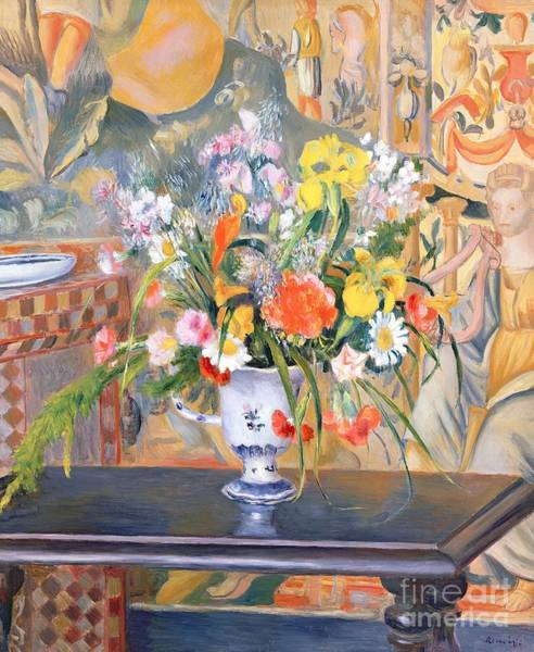 1885 Wall Art - Painting - Vase Of Flowers by Pierre Auguste Renoir