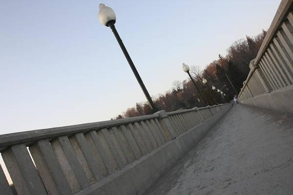 Walking Bridge Art Print