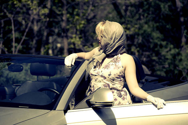 Cabriolet Photograph - Woman With Convertible by Joana Kruse
