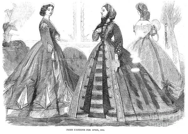 Photograph - Womens Fashion, 1865 by Granger