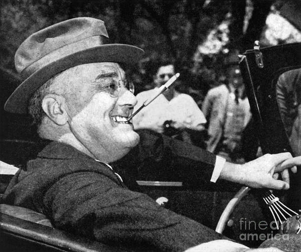 Photograph - Franklin Delano Roosevelt by Granger