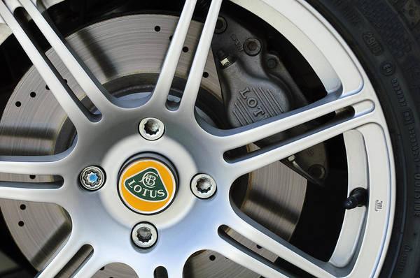 Photograph - 2005 Lotus Elise Wheel Emblem 3 by Jill Reger