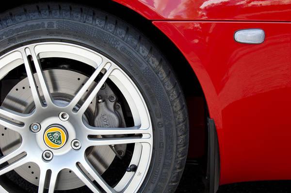 Photograph - 2005 Lotus Elise Wheel Emblem by Jill Reger