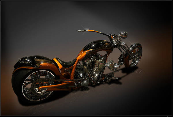 Photograph - 2007 Vangel Custom Motorcycle by Tim McCullough