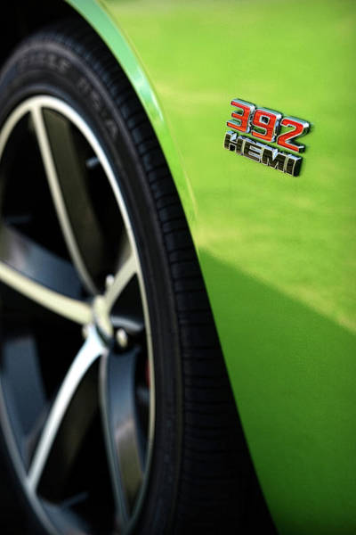Brembo Photograph - 2012 Dodge Challenger 392 Hemi - Green With Envy by Gordon Dean II