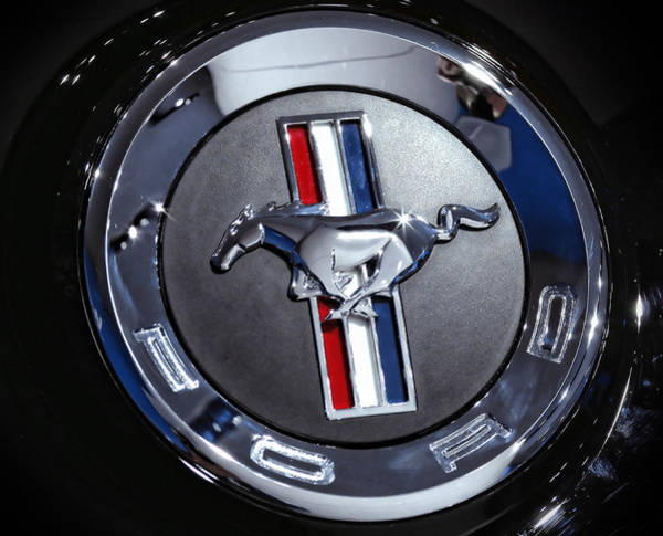 Woodward Photograph - 2012 Ford Mustang Trunk Emblem by Gordon Dean II