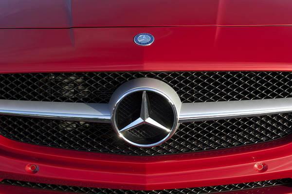 Wall Art - Photograph - 2012 Mercedes-benz Sls Amg Gullwing Hood Emblem by Jill Reger