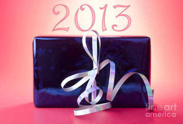 Gift Wrap Photograph - 2013 New Year by Blink Images