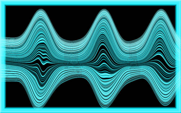 Art Print featuring the digital art The Wave by Mihaela Stancu