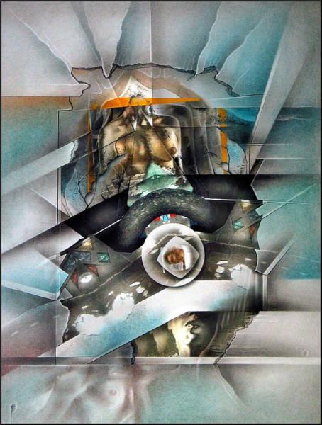 Mixed Media - #22 Centerednude 2003 by Glenn Bautista