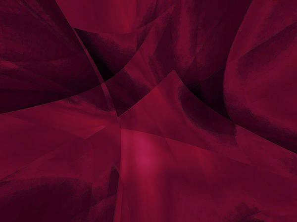Art Print featuring the digital art Transparent Layers by Mihaela Stancu