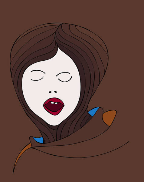Scream Painting - A Woman by Frank Tschakert