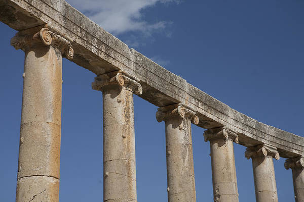 Jerash Photograph - An Close View Of The Oval Plaza by Taylor S. Kennedy