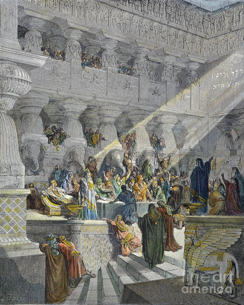Drawing - Belshazzars Feast by Gustave Dore