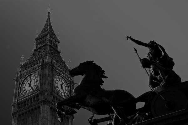 Wall Art - Photograph - Big Ben And Boudica Statue by David Pyatt