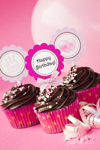 Wall Art - Photograph - Birthday Cupcakes by Ruth Black