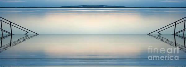 Chicago River Digital Art - Blue Lake by Odon Czintos