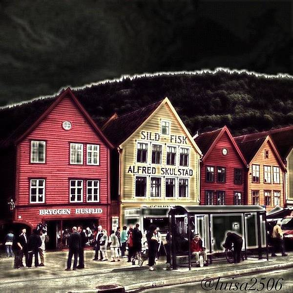 Cool Wall Art - Photograph - Bryggen by Luisa Azzolini