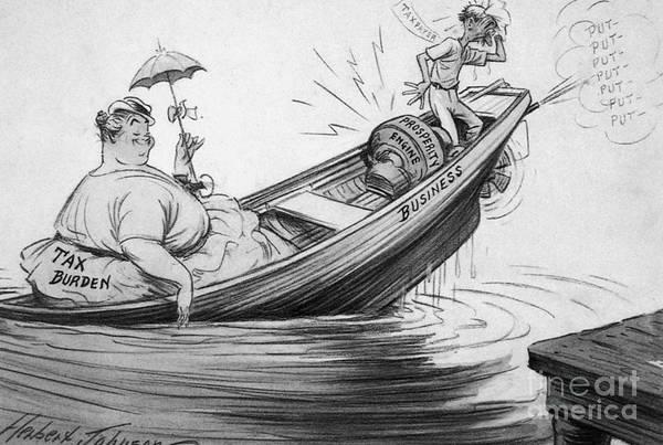Photograph - Cartoon: New Deal, 1935 by Granger