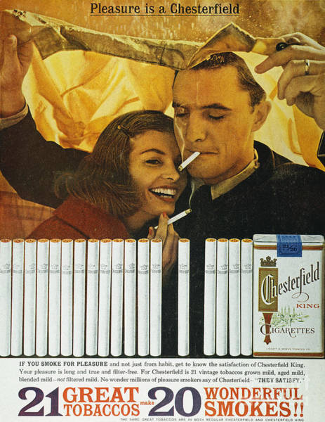 Wall Art - Photograph - Chesterfield Cigarette Ad by Granger