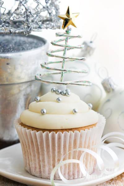 Fairy Cake Wall Art - Photograph - Christmas Cupcake by Ruth Black