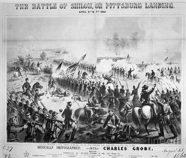Photograph - Civil War: Shiloh, 1862 by Granger