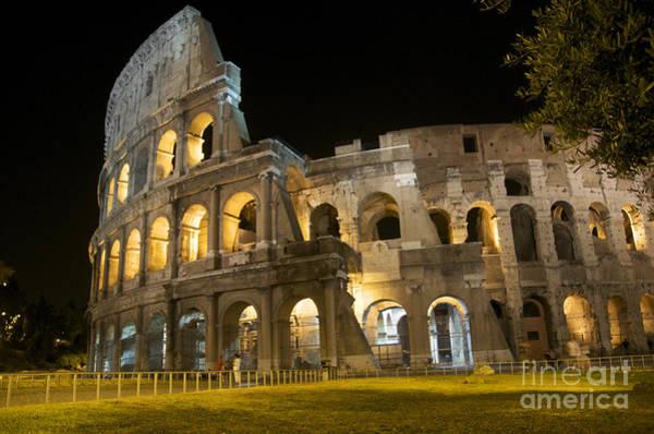 Wall Art - Photograph - Coliseum Illuminated At Night. Rome by Bernard Jaubert